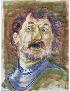 "portrait of a man (watercolor sketch, 18"" x 24"", Sept. 27, 2017, following Frans Hals)"