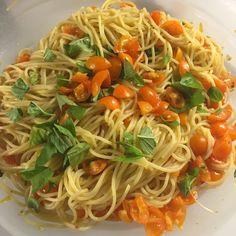 My Italian Dinner - bowl of fresh sunny gold pasta sauce