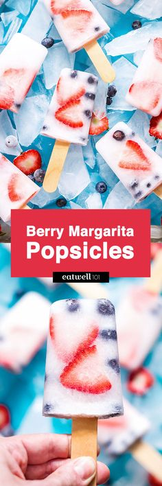 Margarita Popsicles Recipe with Strawberry & Blueberry — Eatwell101