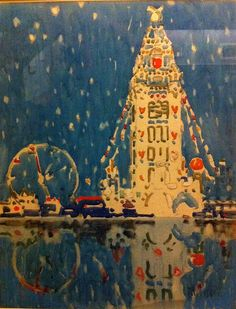Dreamland Tower, Coney Island  David Milne (1882-1953)  Watercolour with bodycolour over black chalk