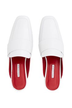 DORATEYMUR, Filiskiye Patent Leather Slippers , Slip-on mules, Square toe, Loafer construction, Tonal strap detail across vamp, Smooth leather upper, Contrast leather lining, Leather sole, Imported
