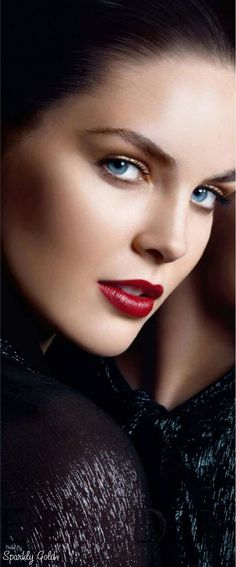 The. Beauty of Hilary Rhoda mesmerizing kissable red pout