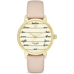 kate spade new york Chalkboard Metro Leather Strap Watch, 34mm (1 665 SEK) ❤ liked on Polyvore featuring jewelry, watches, white, kate spade, kate spade watches, leather strap watches, white jewelry and white leather strap watches