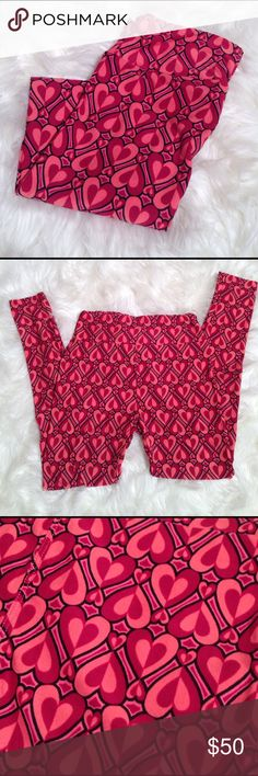 LuLaRoe Valentine OS Leggings!  NEW Super cute, brand new, never worn.  No tag included.  Ships same or next day!!  Smoke and pet free home. LuLaRoe Pants Leggings