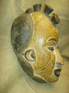 IGBO IBO Maiden Spirit Mask Wood Carving African Art Collectibles