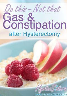 how to get rid of gas after hysterectomy