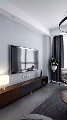 Modern Luxury Bedroom, Luxurious Bedrooms, Home Room Design, Interior Design Living Room, Gray Interior, Room Interior, Home Living Room, Living Room Decor, Living Room Tv Unit Designs