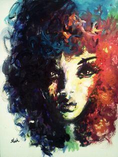 Curly, afro, ebony, black, kinky, wavy, rasta, natural hair...www.facebook.com/gonaturalspain