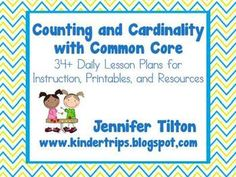 Here's a HUGE set of materials pages!) that includes activities and printables/worksheets/recording sheets for each Common Core standard in the Counting and Cardinality Domain. Includes lessons and resources. Daily Lesson Plan, Transitional Kindergarten, Student Teaching, Teaching Ideas, Math Assessment, Kindergarten Lesson Plans, Love Math, Common Core Standards, Math Resources