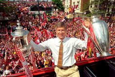 Wenger guided the Gunners to a Premier League and FA Cup Double in the 1997-98 season