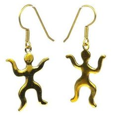 Tiny People Bomb Casing Earrings Handmade and Fair Trade