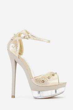Diamante Encrusted Peep Toe Sandals - 5 Colours - Just £5