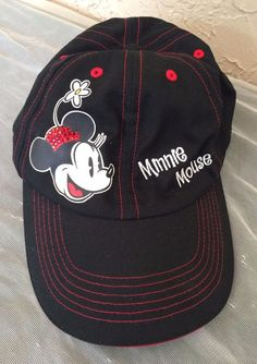 Disney Minnie Mouse Bling Baseball Cap Velcro Adjustable Black Girls  Disney   BaseballCap Disney Mouse 7487e195fc3e