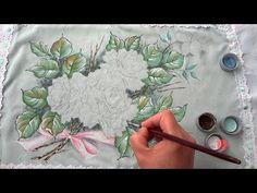 Fronha com tema de Rosas Brancas (Parte1/Aula 14) - YouTube