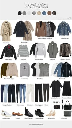 A simple autumn capsule wardrobe. A simple autumn capsule wardrobe.,Mode Herbst A simple autumn capsule wardrobe. Related posts:Sophisticated Style Classic style womenClassical Work Outfit For Winter Classic style womenFloris Van Bommel Business Schuhe Capsule Outfits, Fall Capsule Wardrobe, Fashion Capsule, Work Wardrobe, Mode Outfits, Fall Outfits, Fashion Outfits, Simple Wardrobe, Winter Wardrobe Essentials