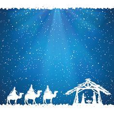 Christmas theme en fondo azul - ilustración de arte vectorial