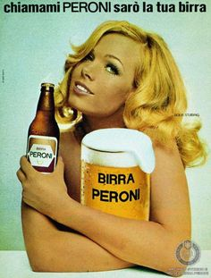 Campagna pubblicitaria per la Bionda Peroni, con l attrice Solvi Stubing chiamami Peroni saro la tua birra Archivio storico e Museo Birra Pe...