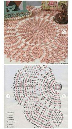 Free Crochet Doily Patterns, Tunisian Crochet Patterns, Crochet Mat, Crochet Home, Thread Crochet, Crochet Gifts, Crochet Doilies, Crochet Flowers, Knitting Patterns