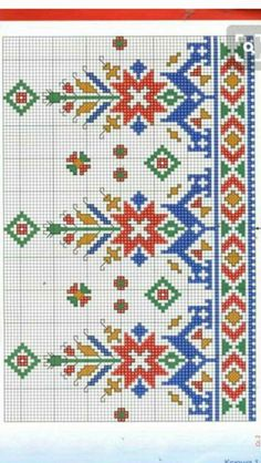 Cross Stitch Borders, Cross Stitch Rose, Cross Stitch Flowers, Cross Stitch Designs, Cross Stitch Patterns, Folk Embroidery, Cross Stitch Embroidery, Embroidery Patterns, Fair Isle Knitting Patterns