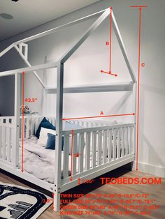 TWIN SIZE BED 39''x75'' with bed rails Teo Beds FREE SHIPPING Full Size Toddler Bed, Toddler Bed Frame, Diy Toddler Bed, Kids Bed Frames, Buy Bed Frame, House Frame Bed, Painted Beds, Nursery Crib, Baby Room Decor