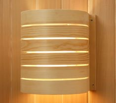 Birch Shade for Vapor Proof Wall Light for Saunas  #saunas.com