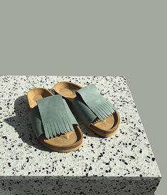 PART / Korkáče Minty Modeling, Blues, Slip On, Backpacks, Sandals, Vintage, Slide Sandals, Shoes Sandals, Backpack