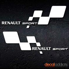 Renault Sport vinyl decals stickers - one colour - suits Clio, Megane - Megane Sport, Megane Cc, Sport F1, Renault Megane, Car Engine, Car Wrap, Car Stickers, One Color, Cars