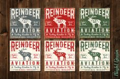 Rustic Home Decor Vintage Sign Decor Reindeer by RightGrain