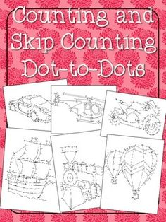 Counting and Skip Counting Dot-to-Dots ($) uses numbers within 1000, a fun way to work on number sense
