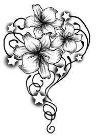 Hawaii Flowers Drawing, Hawaii Flower Tattoos, Hibiscus Flower Drawing, Hibiscus Flower Tattoos, Plumeria Tattoo, Easy Flower Drawings, Flower Tattoo Drawings, Floral Drawing, Flower Sketches