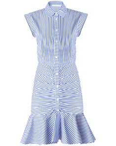 Veronica Beard, Bell Button Down Ruched Shirt Dress