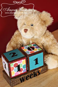 Prenancy/new baby countdown blocks Could also use in weekly pics for maternity/baby Baby Countdown, Pregnancy Countdown, Baby Shower Crafts, Baby Crafts, Baby Blocks, Personalized Baby Gifts, Newborn Baby Gifts, Gifts For New Moms, Grandmothers