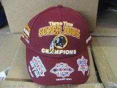 04418acbcef WASHINGTON REDSKINS 3 TIMESUPER BOWL CHAMPS CAP HAT