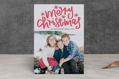 Merry Christmas Letter by Phrosne Ras at minted.com