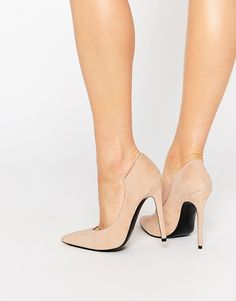 3b3512368bf KENDALL   KYLIE Kendall   Kylie Abi Suede Nude Court Pointed Pumps Nude  Shoes