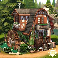 Sims 4, Gazebo, Outdoor Structures, Cabin, House Styles, Gallery, Building, Instagram, Home Decor