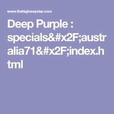 Deep Purple : specials/australia71/index.html