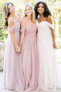 Revelry chiffon tulle bridesmaid dress #weddings #dresses #bridesmaid #bridesmaiddresses #weddingideas #weddinginspiration
