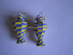 Handmade Jewelry - Paper Lanyard Vase Earrings (5) by fah2305, via Flickr