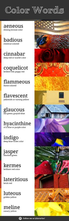 Brainstorming different words to describe color? Try this artistic vocabulary list! Photos and design by @lararlee.