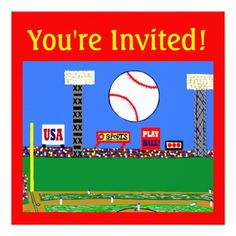 2012 Kids Sports Personalized Party Invitations