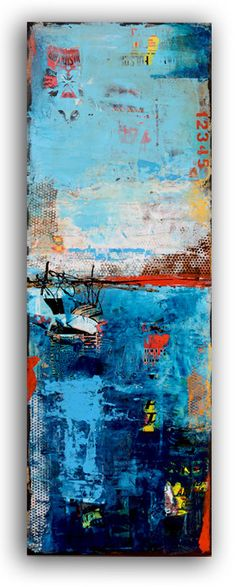 Abstract Painting on Wood by erinashleyart on Etsy, $400.00 Paintings I Love, Art Paintings, Beautiful Paintings, Acrylic Art, Abstract Landscape, Abstract Art, Check Mix, Art Plastique, Painting On Wood