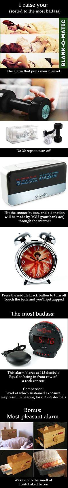 More alarm clocks