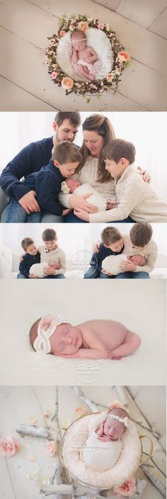 timeless girly newborn session with flowers