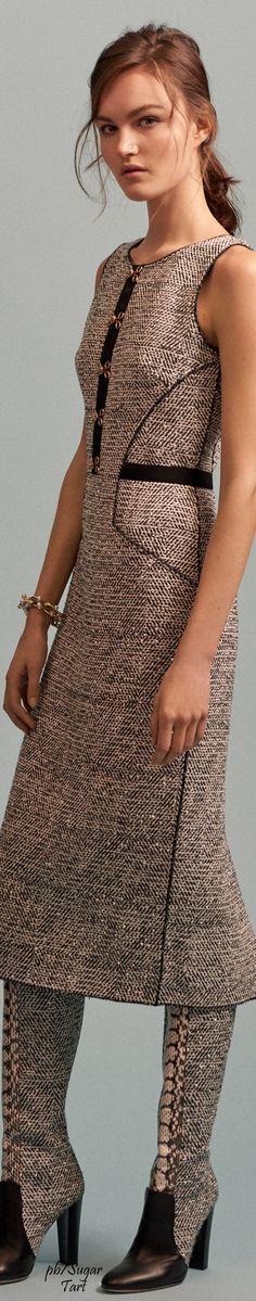 Oscar de la Renta Pre-Fall 2016 women fashion outfit clothing style apparel @roressclothes closet ideas