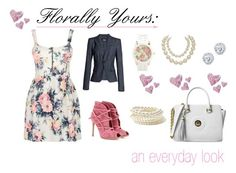 """Florally Yours: an everyday look"" by archetypallydresd-looks ❤ liked on Polyvore featuring Gianvito Rossi, Cameo Rose, Aéropostale, Kobelli, Forever 21, Dsquared2, Chanel, floralprint, pastels and Fereti"