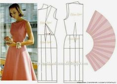 vintage boat neck classic dress pattern, i love it! Diy Clothing, Clothing Patterns, Dress Patterns, Fashion Sewing, Diy Fashion, Female Fashion, Costura Fashion, Easy Sewing Patterns, Pattern Cutting