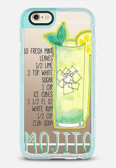 MOJITO by Monika Strigel iPhone 6 case in Pearl Teal by @monikastrigel | @casetify