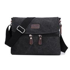 NEW Men Bag High Quality Multifunction Men Canvas Bag Casual Travel Bolsa Masculina Men's Crossbody Bag Men Messenger Bags ** Want additional info? Click on the image.