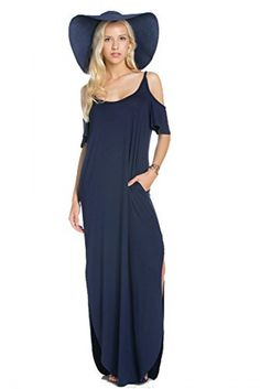 a67181b503 My Space Clothing Women's Jersey Cold-Shoulder Maxi Dress w/Pocket -Made in  USA. Maternity DressesMaxi DressesSimple Summer ...